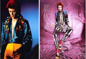 David Bowie as Ziggy Stardust in fashion