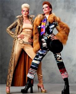 Hannelore Knuts as David Bowie by Steven Meisel