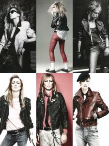 Raquel Zimmermann as David Bowie by David Sims for Vogue Paris